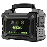ENKEEO Power Station 222Wh/60000 mAH Tragbare Solar Generator Mobiler Energiespeicher mit 220V AC-Steckdose, 4x USB (1x QC 3.0) & 2x Type-C Ausgang, LED-Taschenlampen für Camping Reise Emergency